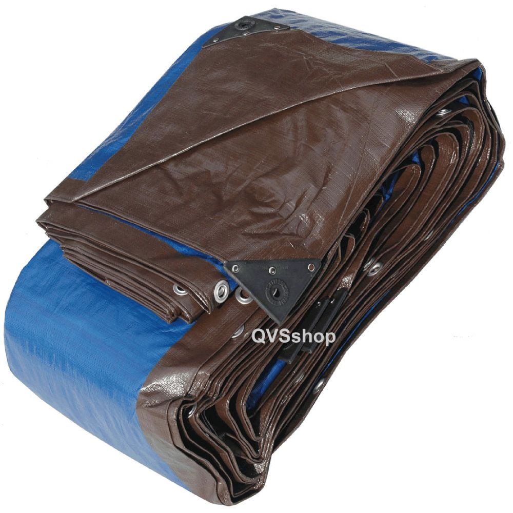 Heavy Duty Brown/Blue Tarpaulins - Haystacks, Furniture Sheet